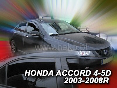 Honda Accord Sedan 2003-2008 (predné) - deflektory Heko