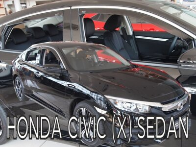 Honda Civic Sedan od 2017 (so zadnými) - deflektory Heko