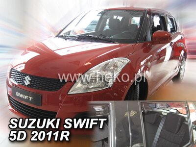 Suzuki Swift 2010-2017 (so zadnými) - deflektory Heko
